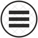 Round Border Menu Icon