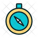 Round Compass Direction Tool Navigation Tool Icon