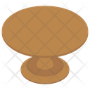 Round Dinner Table Icon