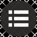 Round Form List Icon