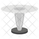 Round Glass Table Icon