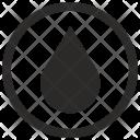Round Label Fuel Icon