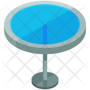 Glass Round Table Icon