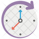 Round The Clock Time Machine Clockwise Arrow Icon