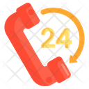 Round The Clock Hours Support Hours Service Icon