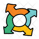Roundabout Circle Arrow Icon