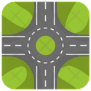 Roundabout Traffic Road Icon