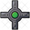 Roundabout Road Junction Road Roundabout Icon