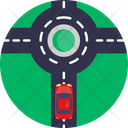 Roundabout Road Car Icon