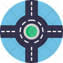 Roundabout Ways Way Icon