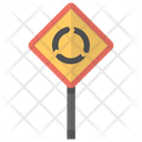 Roundabout Ahead Warning Icon