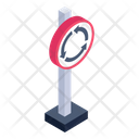 Roundabout Sign Roundabout Board Roadboard Icon