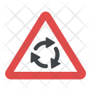 Roundabout Warning Sign Icon