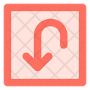 Rounded Down Arrow Icon