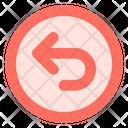 Rounded Left Arrow Icon