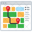 Route Location Map Icon