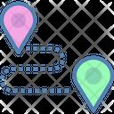 Route Destination Path Icon