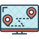 Route Way Path Icon