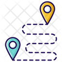 Route Map Location Map Pins Icon