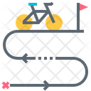 Route Cycling Path Icon