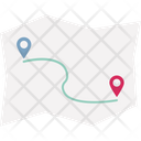 Direction Flight Path Route Icon