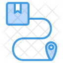 Route Tracking Delivery Icon