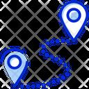 Route Location Pin Icon