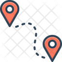 Route Location Tracking Icon