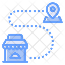 Route Map Location Icon