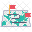 Route Track Map Icon