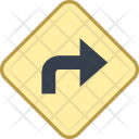 Route Direction Sign Icon