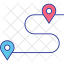 Direction Distance Map Icon