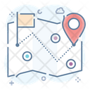 Route Location Track Pathway Map Pin Icon