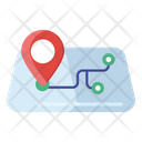 Route Map Track Map Map Navigation Icon