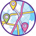 Route Planning Icon