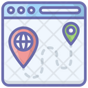 Route Tracking Online Location Direction Icon