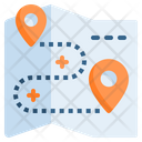 Routh Gps Navigation Map Icon