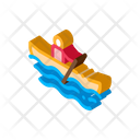 Competition Boat Paddle Icon