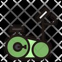 Rowing Machine Stationary Bike Fitness Icon