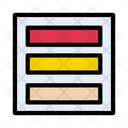 Rows Layout Interface Icon