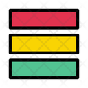 Rows Layout Design Icon