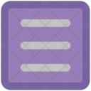 Rows Web Layout Icon