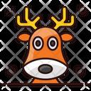 Rs Eindeer Antler Reindeer Antlers Christmas Animal Icon
