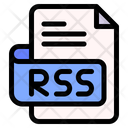 Rss File Type File Format Icon