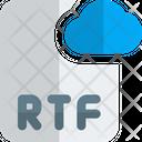 Rtf Cloud File Cloud File File Icon