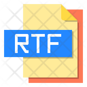 Rtf File Format Type Icon