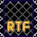Rtf File Rtf Format Icon