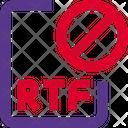 Rtf File Banned Rtf Banned File Icon