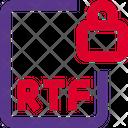 Rtf File Lock Rtf Lock File Lock Icon