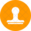 Rubber Stamp Emblem Icon